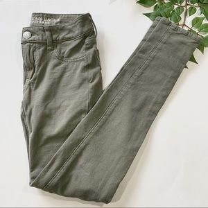 American Eagle Outfitters 00 Green Jegging Jeans
